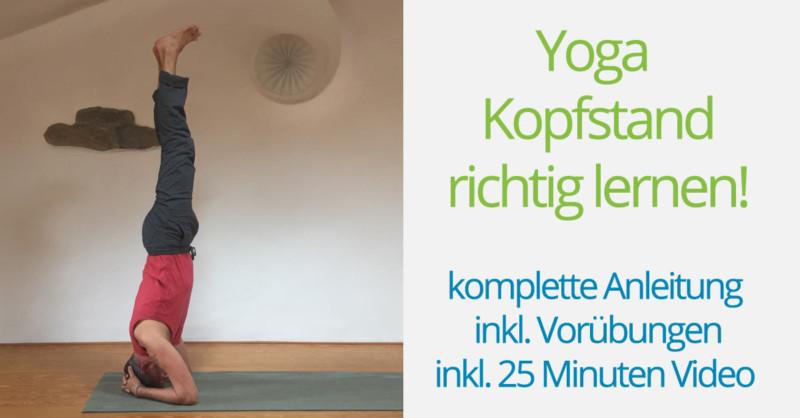 Yoga Kopfstand Anleitung