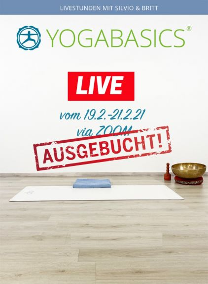 YOGA ONLINE LIVE vom 30.4.-2.5.21 (via Zoom)