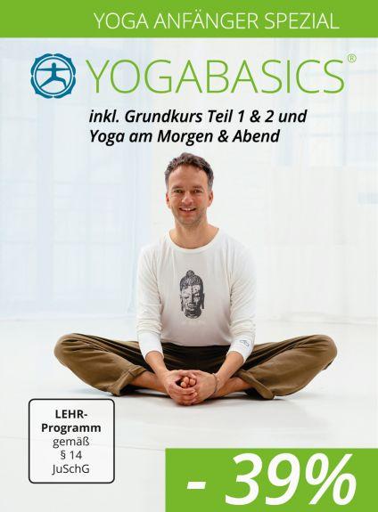 Yoga Anfänger Spezial – Grundkurs Teil 1 und 2 sowie Kurzprogramme