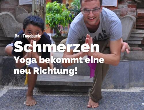 Bali Teil 6: Der Körper rebelliert. Schmerzen! Yoga bekommt eine neue Richtung…