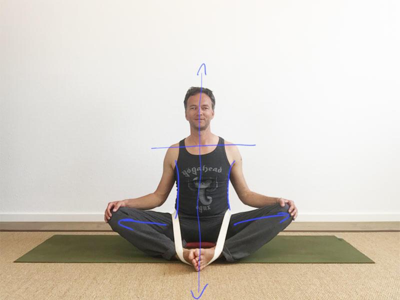 Yoga Hilfsmittel Gurt