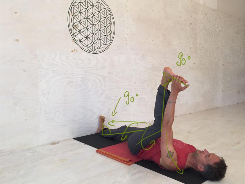 Yoga-Übungen für offene Hüften