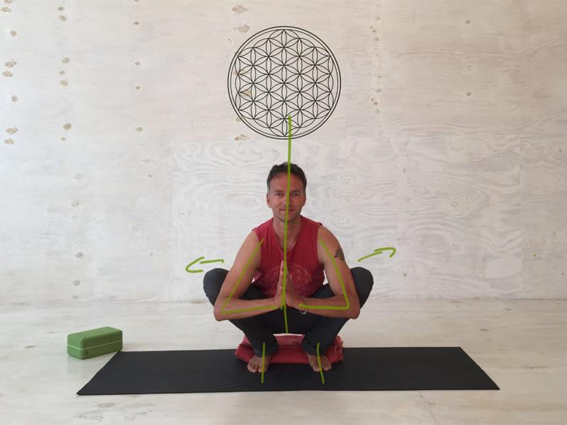 Yoga Übungen offene Hüften