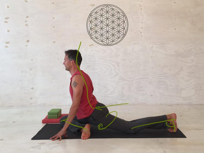 Yoga Übungen offene Hüften - Taube
