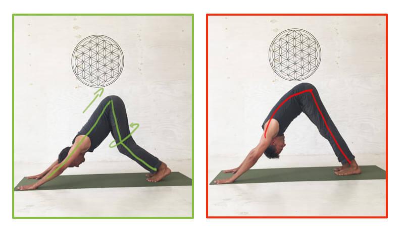 Fehler in den Yoga Übungen