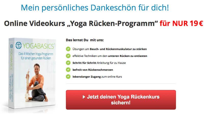 Yogakurs gegen Rückenschmerzen