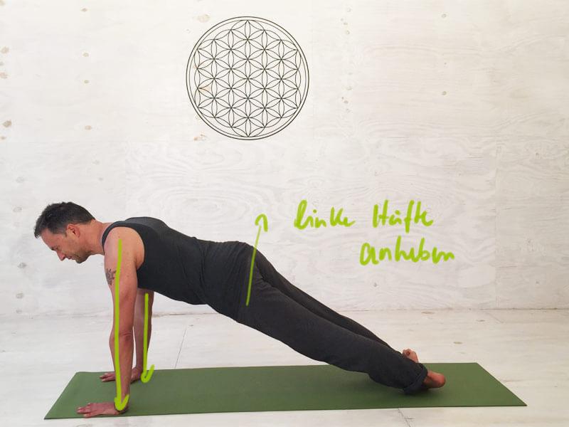 Yoga Übungen seitliche Bauchmuskeln