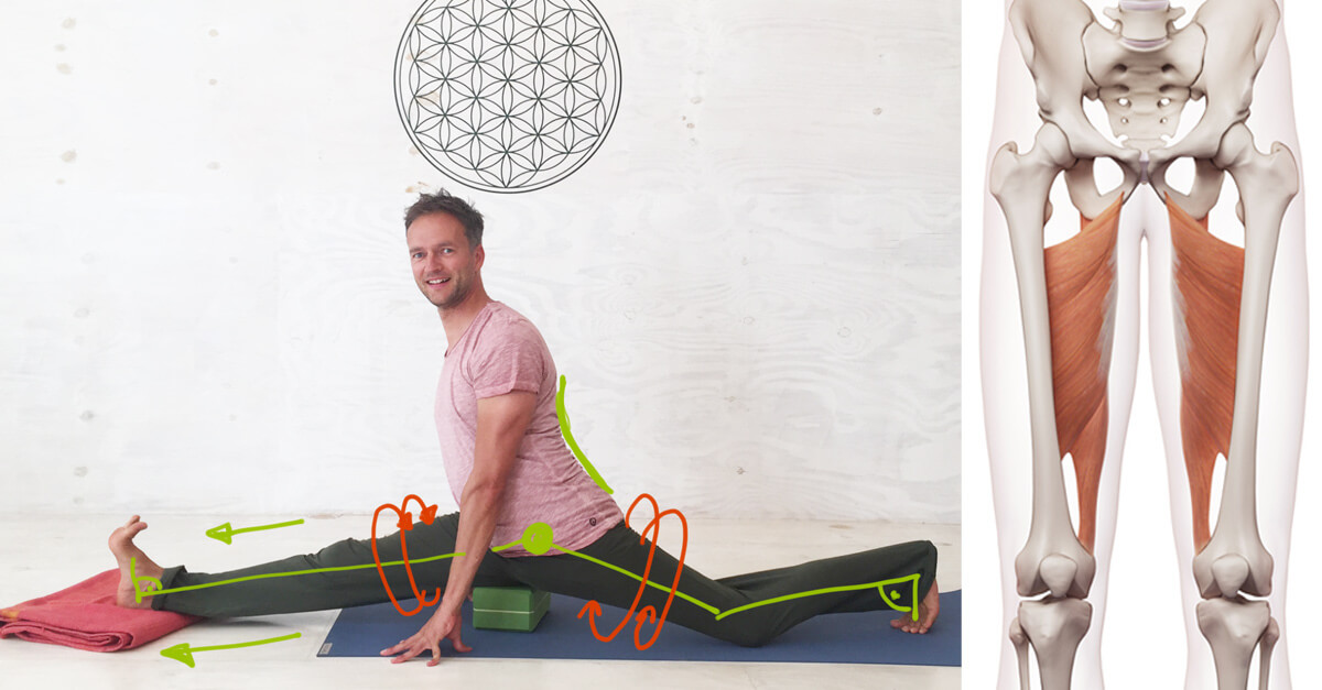Yoga Übung Spagat lernen in 8 Schritten