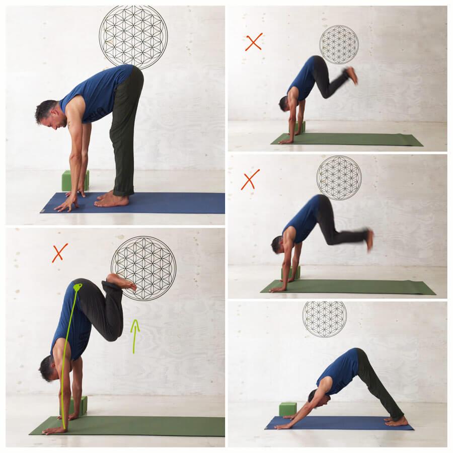 Yoga Sonnengruß - nicht springen für Anfänger