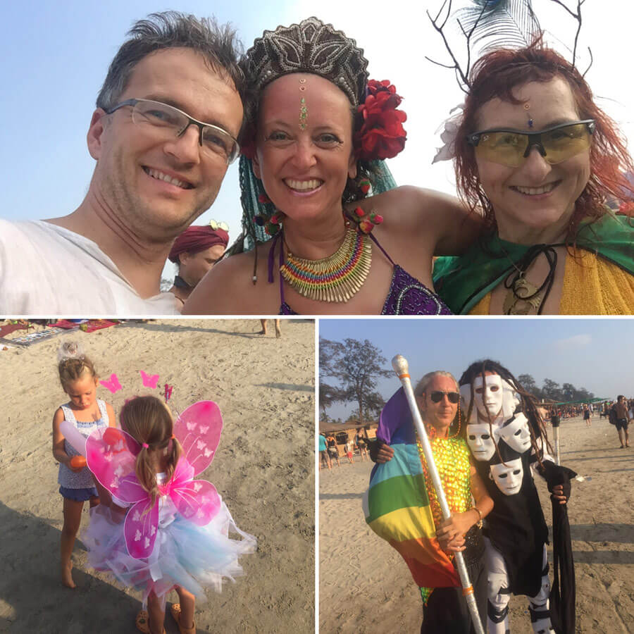 Goa Yoga Reise - Fasching am beach