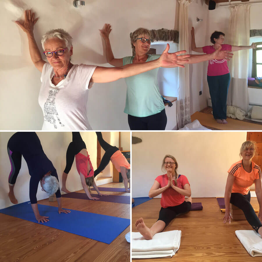 yoga reise toskana - Yoga an der wand