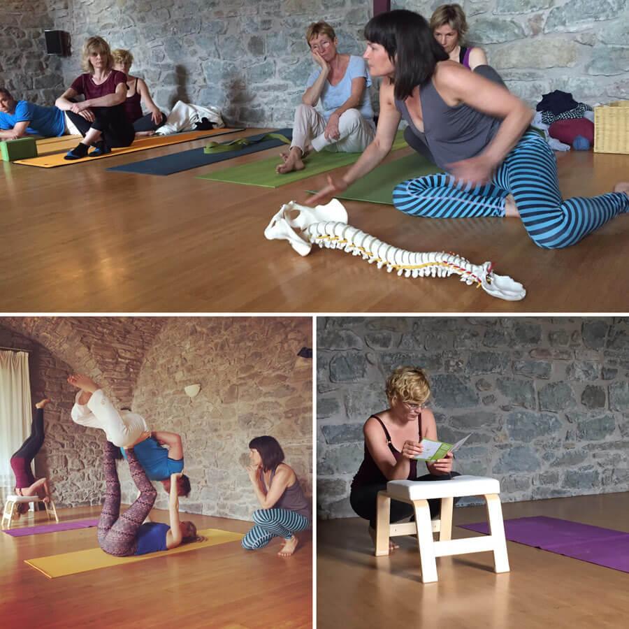 yoga reise toskana - Acro Yoga - Kopfstandhocker