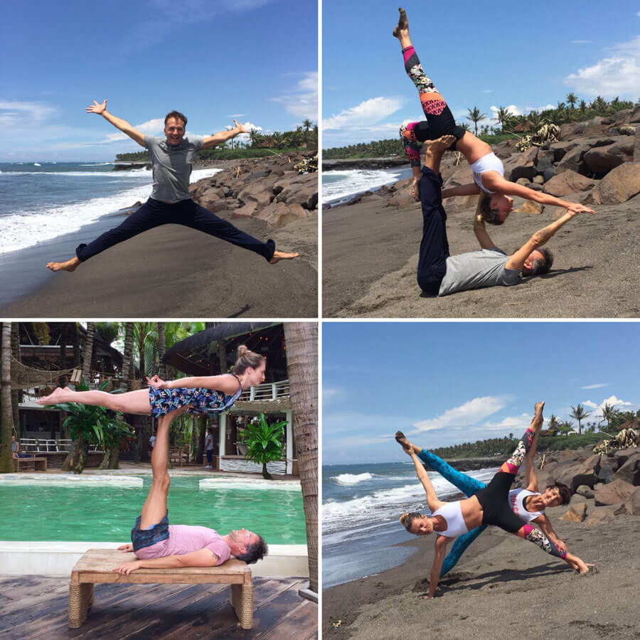 Bali Yoga Reise - Acro Yoga = Element Luft