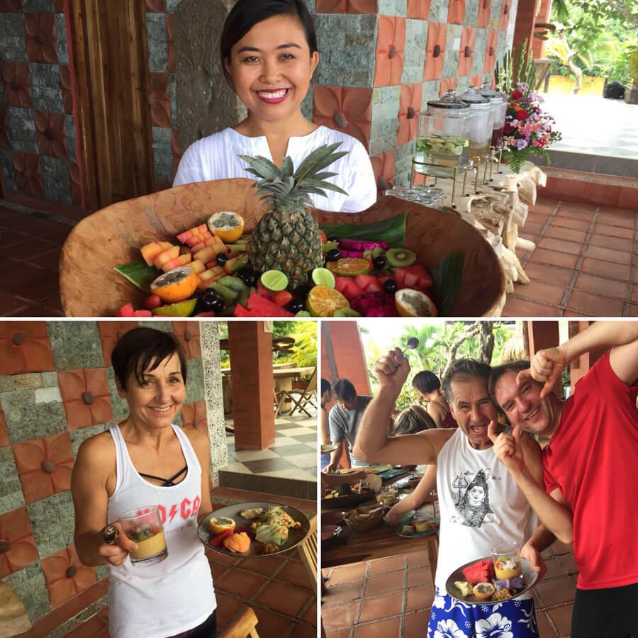 Bali Yoga Reise - organic Food