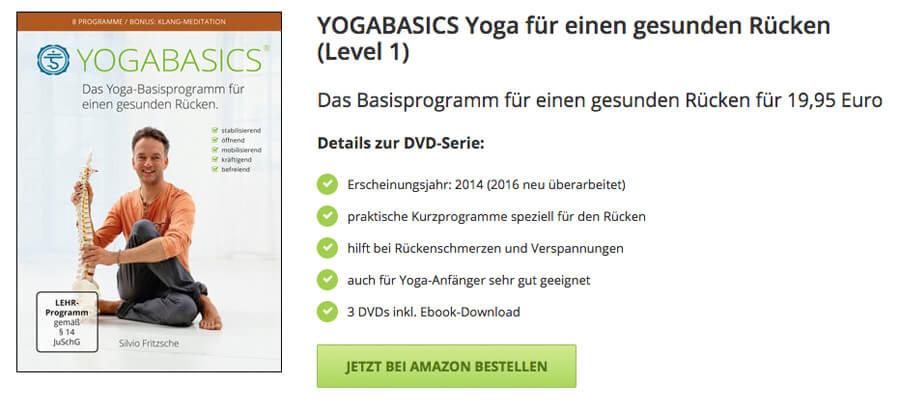 DVD Yoga gegen Rückenschmerzen im unteren Rücken