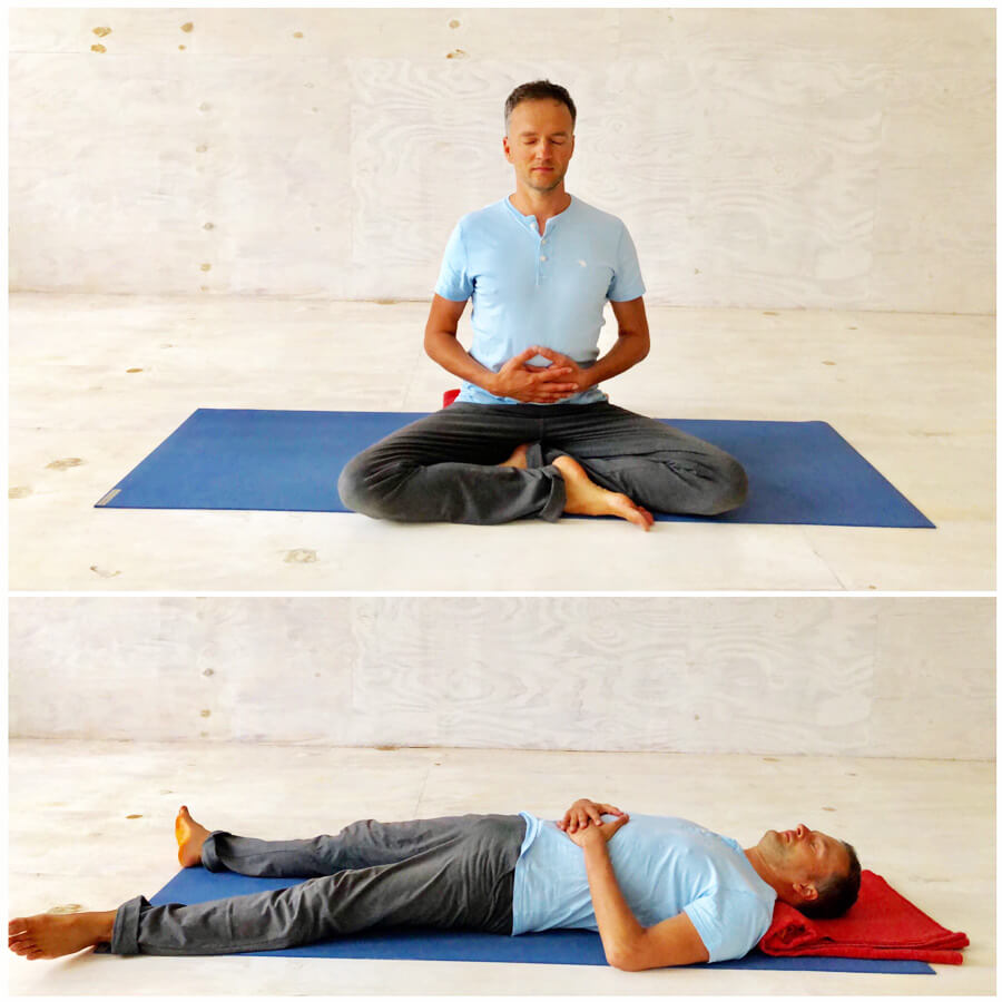 Yoga Stress - Yoga-Übungen - Bauchatmung