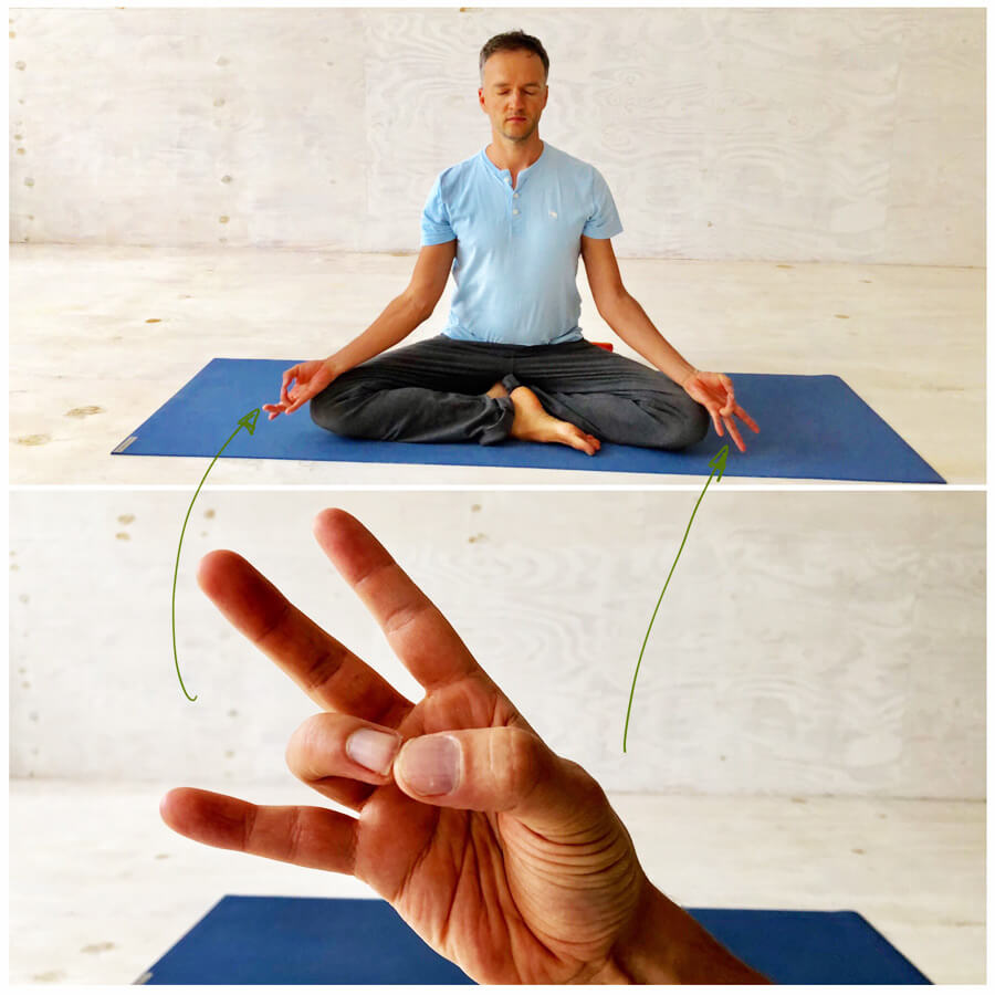 Yoga Stress - Yoga-Übungen - Meditation Mudra