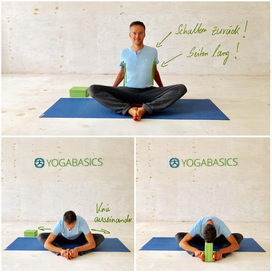 Yoga Stress - Yoga-Übung - baddhakonasana