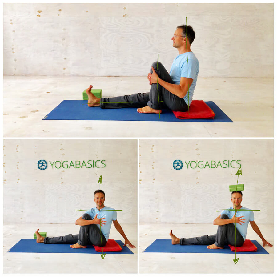 Yoga Stress - Yoga-Übung - Drehsitz
