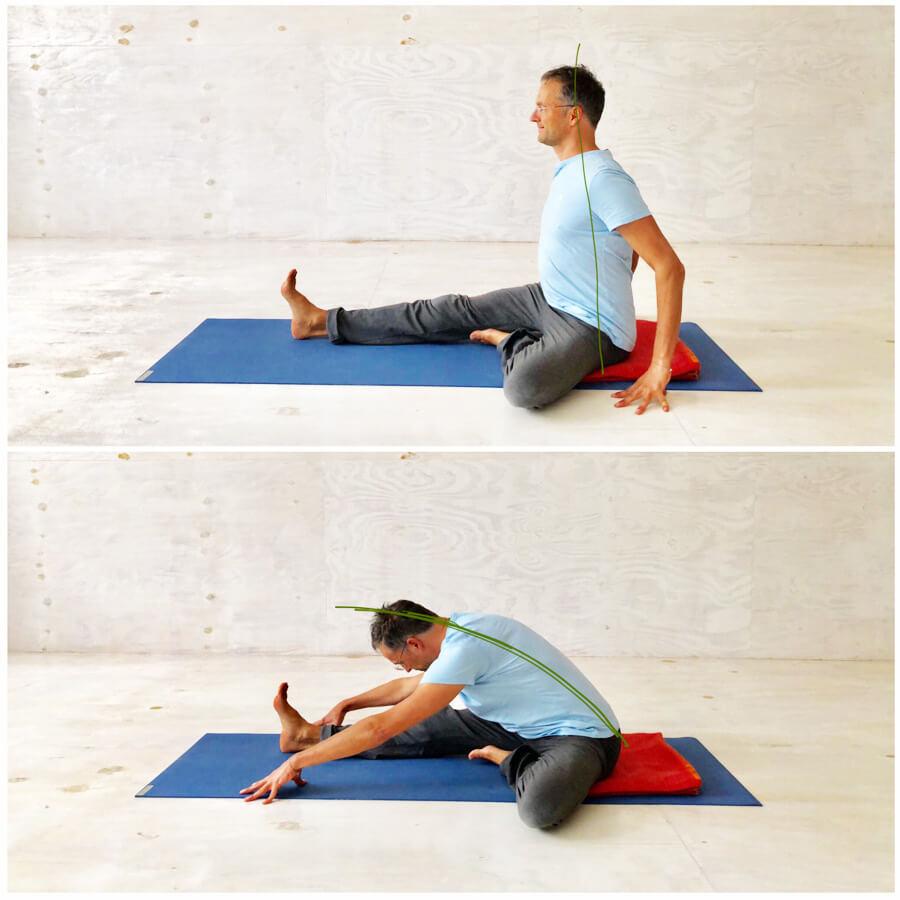 Yoga Stress - Yoga-Übung - halbe Vorbeuge