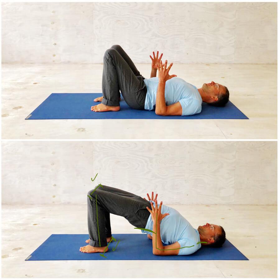 Yoga Stress - Yoga-Übung - Brückenhaltung