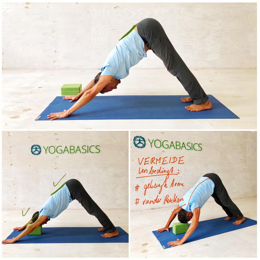 Yoga Stress - Yoga-Übung - herabschauende Hund