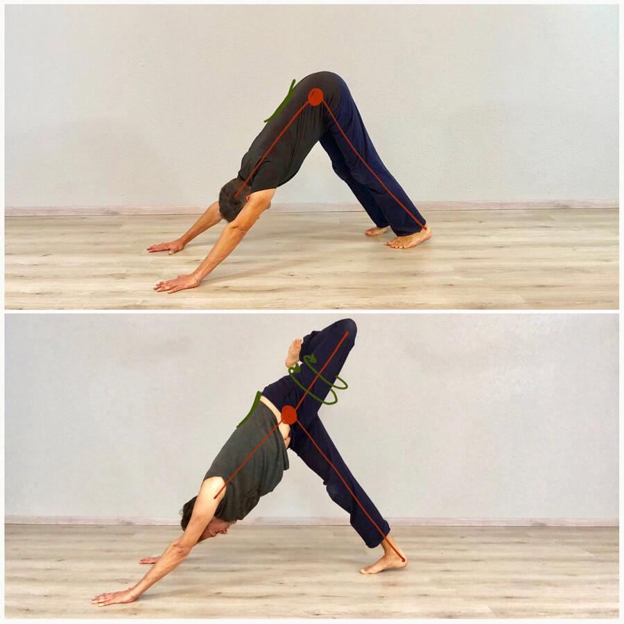 Yoga Übung für Anfänger