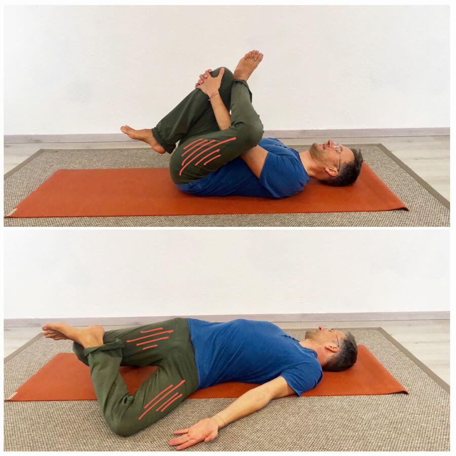 piriformis dehnen yoga übungen