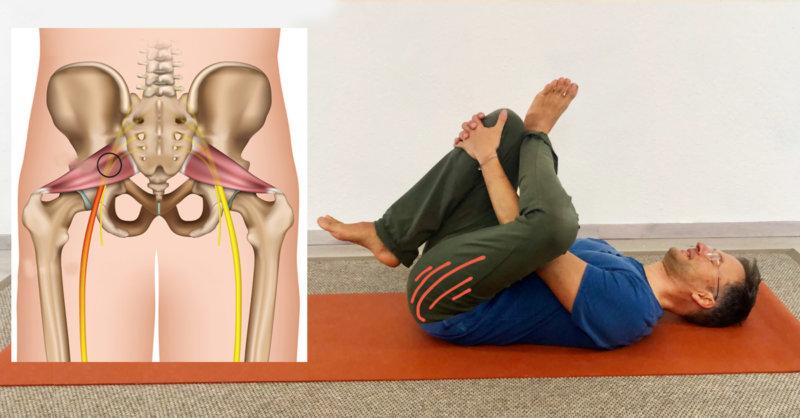 Piriformis dehnen Yoga-Übungen bei Piriformis syndrom