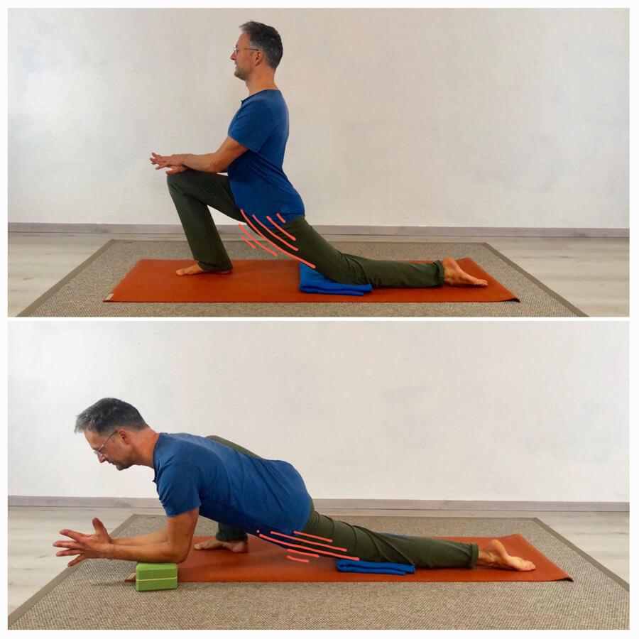 Psoas dehnen Yoga Übung