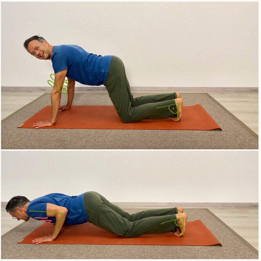 Pectoralis major dehnen - Yoga Übung 1