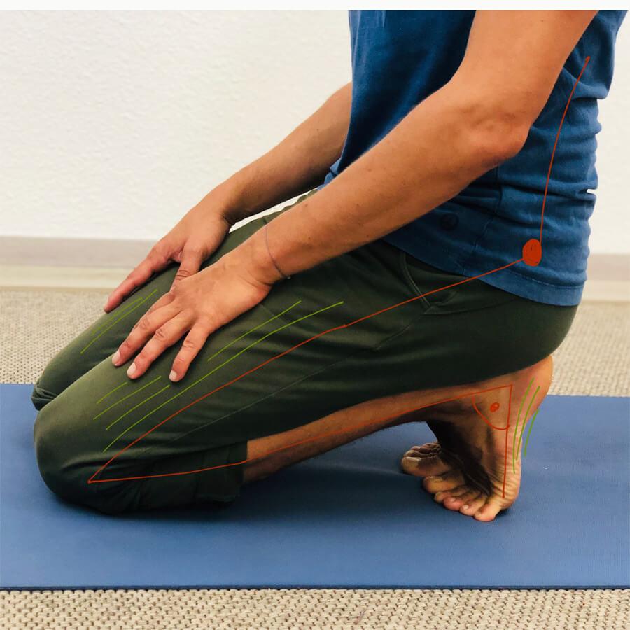 Yoga Übung nach dem Lauftraining