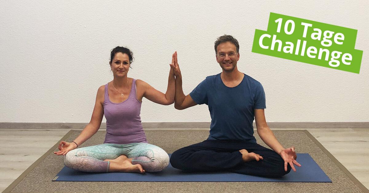 """10 Tage Yoga Challenge für Anfänger """"Von Null auf Yoga"""""""