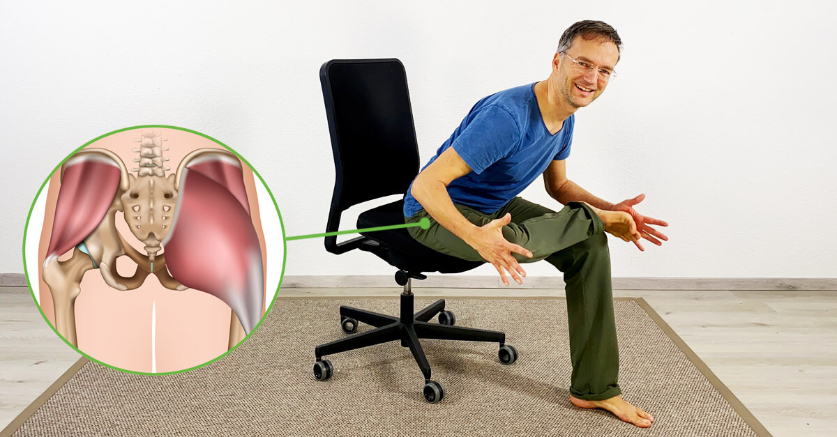 Yoga auf dem Stuhl - 4 yoga Übungen