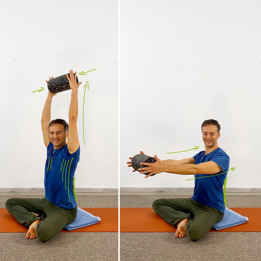 Yoga mit Rolle