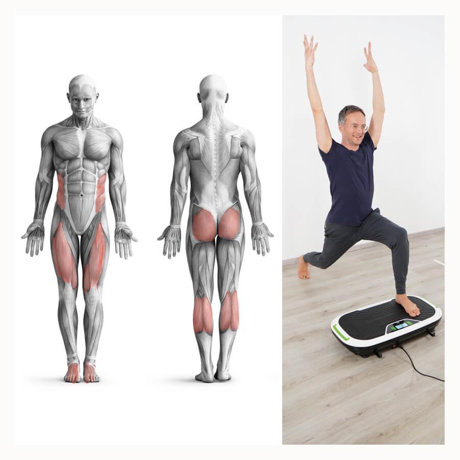Vibrationsplatte Übungen Ausfallschritt